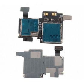 Flex flat lettore scheda sim card e micro sd slot per samsung galaxy s4 gt-i9505