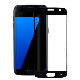 Pellicola protezione full schermo bordi neri per Samsung Galaxy S7 G930F in TPU