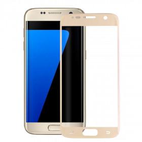 Pellicola protezione full schermo bordi Gold per Samsung Galaxy S7 G930F in TPU