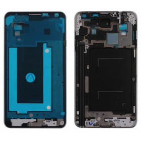 Frame Frame Shell Frame Silver Central para Samsung Galaxy NOTE 3 N9005