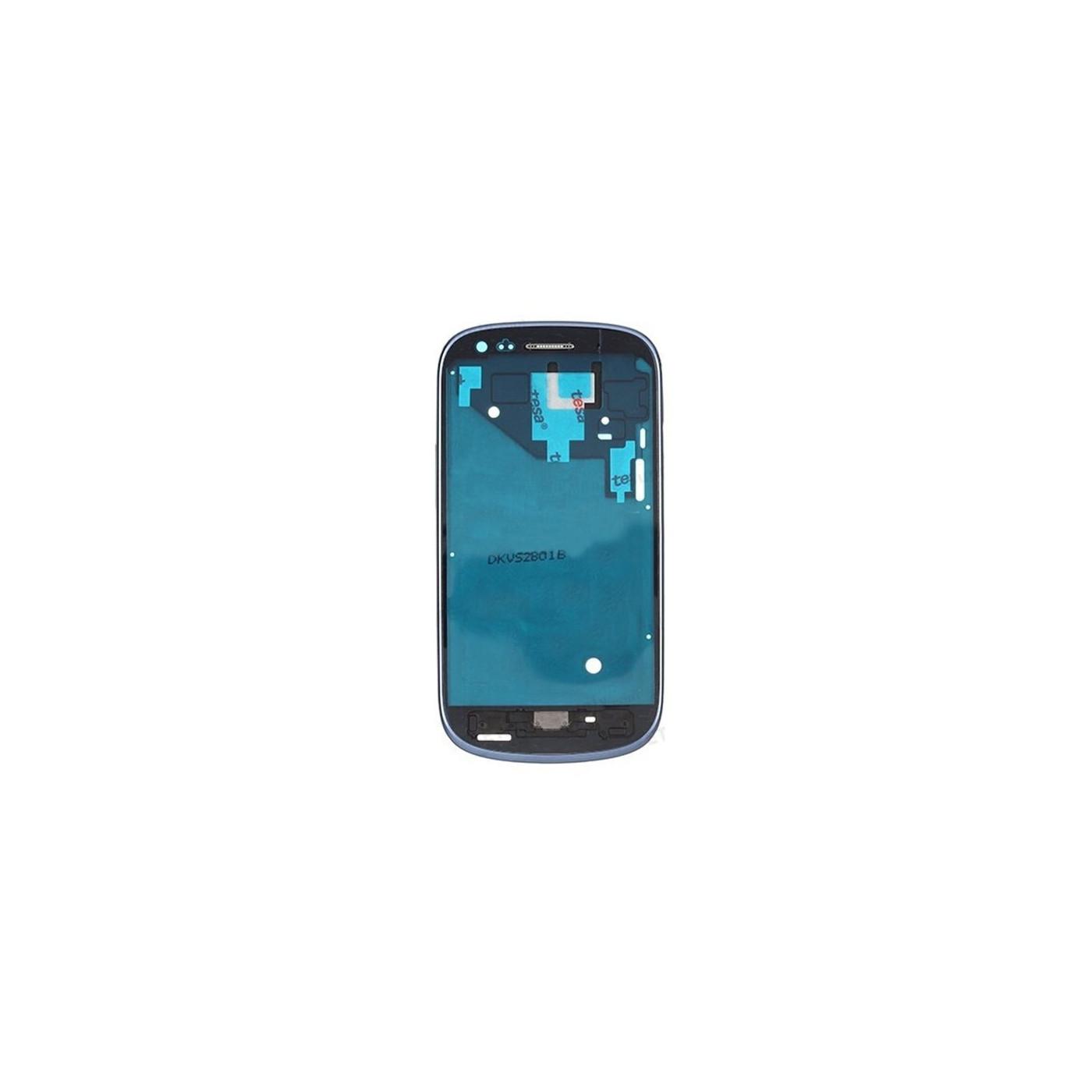 Frame Telaio Scocca Cornice Centrale per Samsung Galaxy S3 mini I8190 Blu
