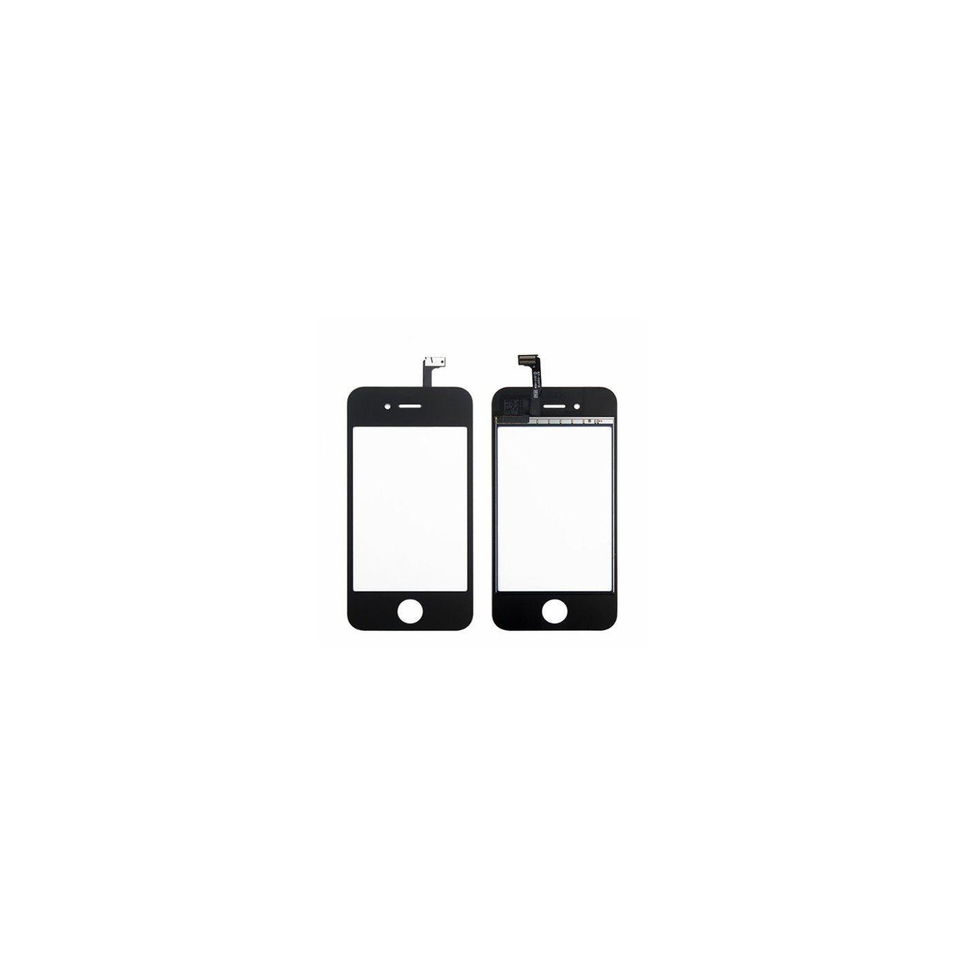 Pantalla táctil de cristal para apple iphone 4 4g pantalla negra + adhesivo de doble cara