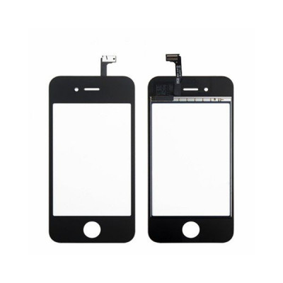 Vetro Touch screen per apple iphone 4 4g schermo nero + biadesivo