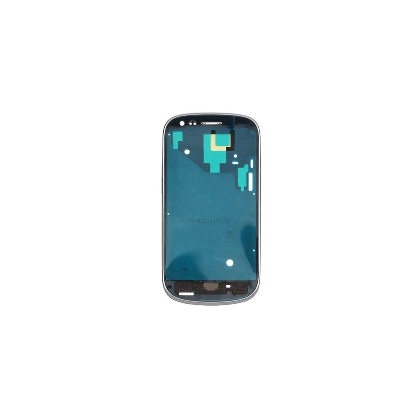 Cadre Cadre Coque Samsung Galaxy S3 mini I8190 blanc Cadre central