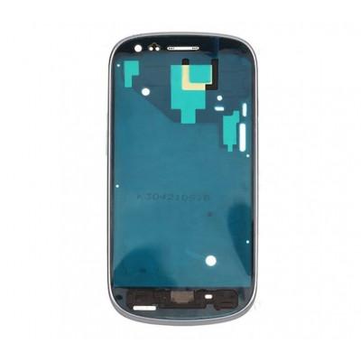 Frame Telaio Scocca Per Samsung Galaxy S3 Mini I8190 Bianco Cornice Centrale