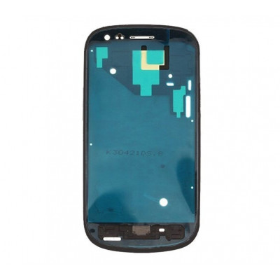 Cadre Cadre Coque Samsung Galaxy S3 mini I8190 noir Cadre central