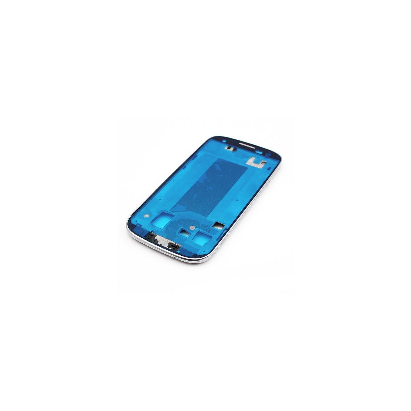 Cadre Cadre Coque Samsung Galaxy S3 I9305 Blanc Cadre Central