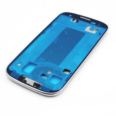 Frame Telaio Scocca Per Samsung Galaxy S3 I9305 Bianco Cornice Centrale