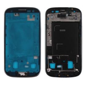 Marco Marco Marco Marco Pieza central plata para Samsung Galaxy S3 I9300