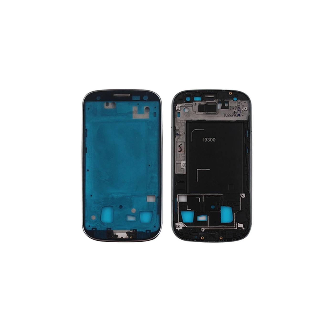 Frame Telaio Scocca Cornice Centrale silver per Samsung Galaxy S3 I9300