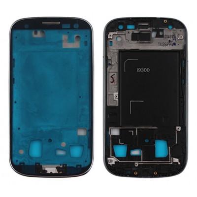 Cuerpo De Marco Central Para Samsung Galaxy S3 I9300 Plateado