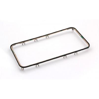 Rahmen Digitizer Rahmen für iPhone 4S schwarz mit Aufkleber