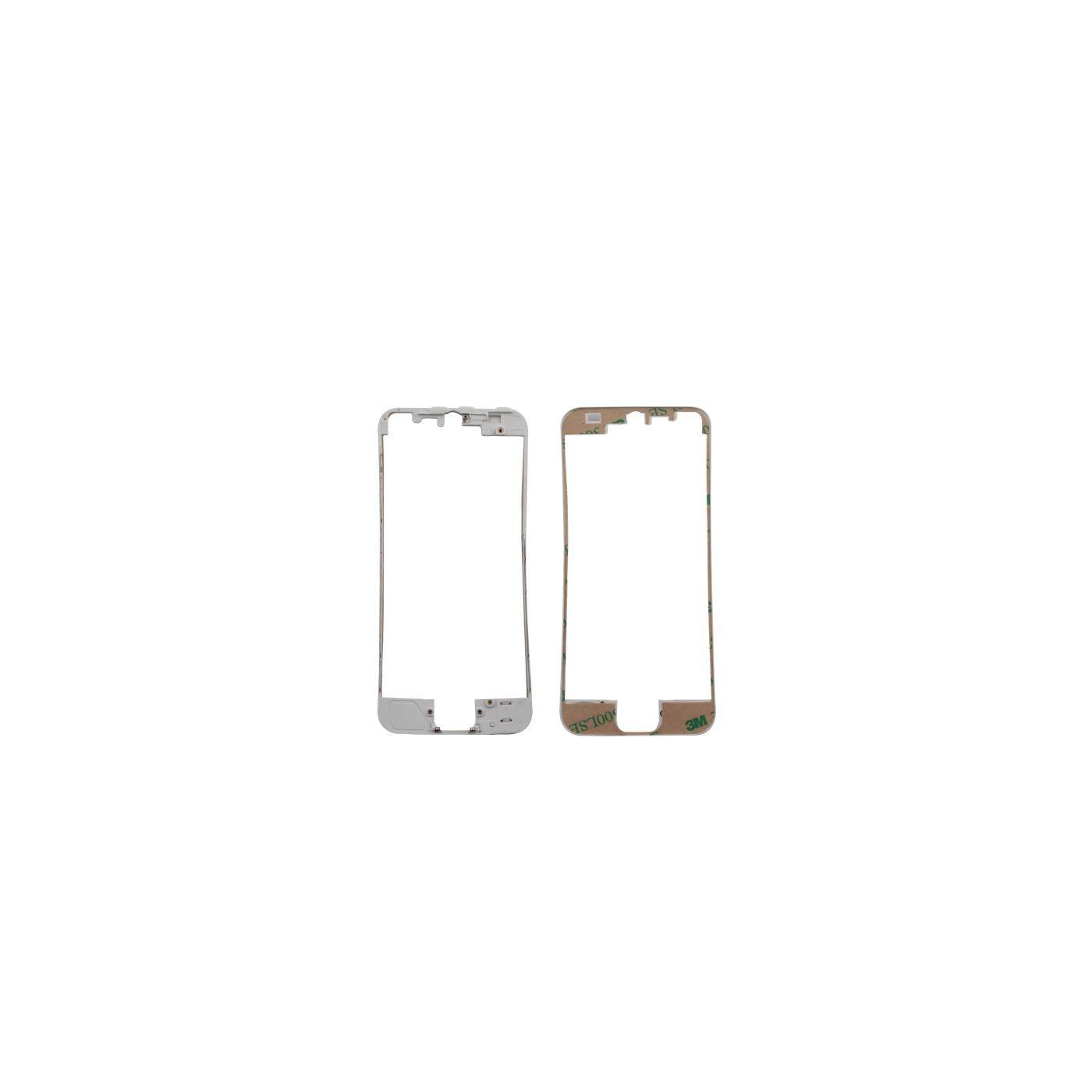 Marco de digitalizador de marco para iphone 5 blanco con etiqueta