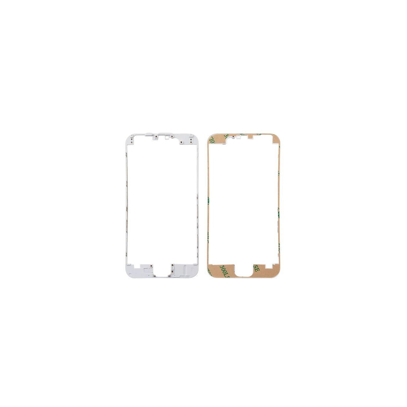Cornice digitizer frame per iphone 6 bianco con adesivo