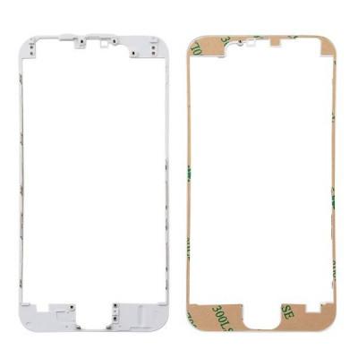 Cadre de numériseur de cadre pour iphone 6 blanc avec autocollant