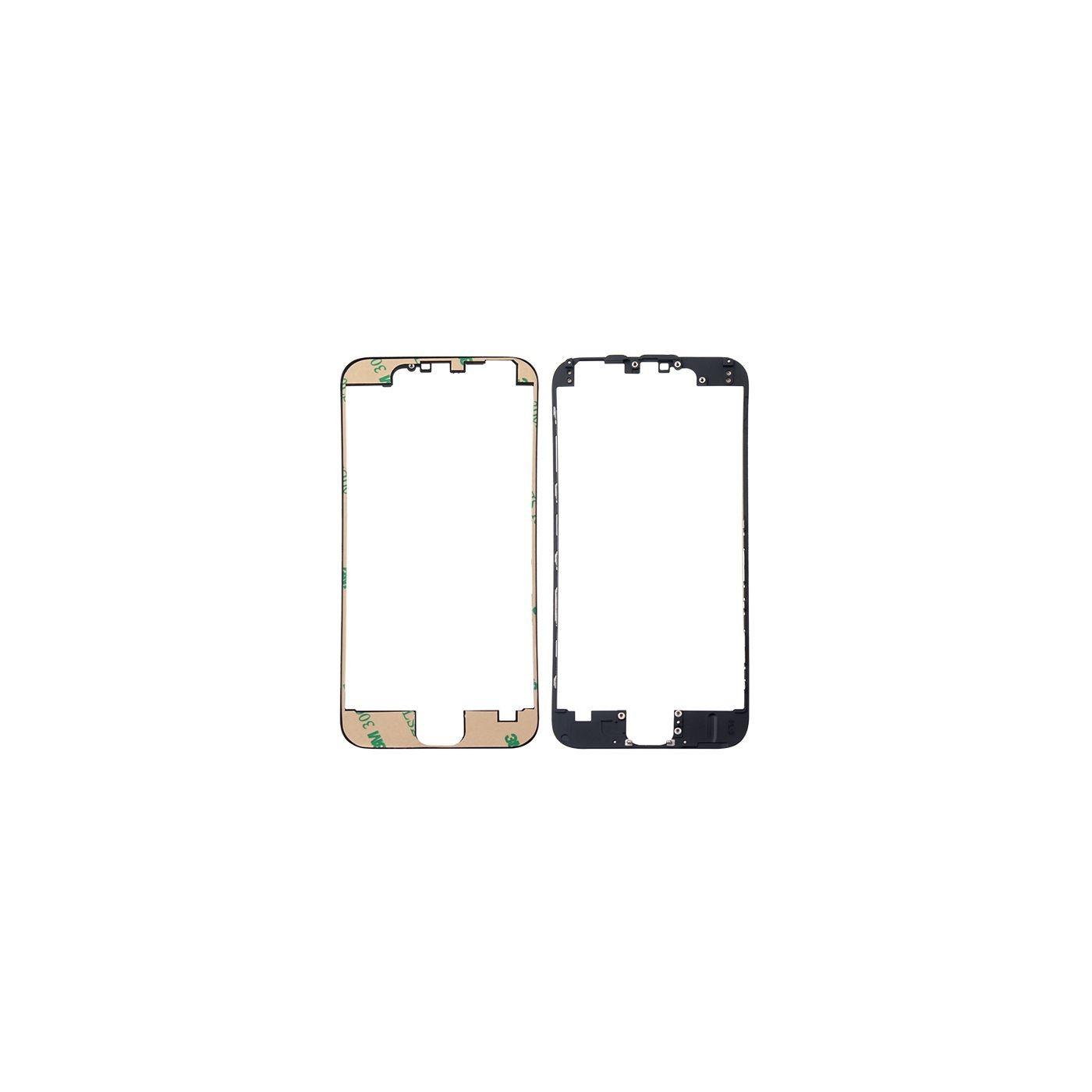 Cadre de numériseur de cadre pour iphone 6 noir avec autocollant