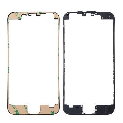 Cornice digitizer frame per iphone 6 nero con adesivo