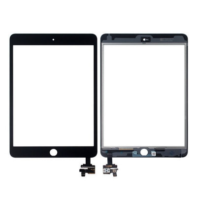 Touch screen for apple ipad mini 3 wifi 3g black glass screen sticker +