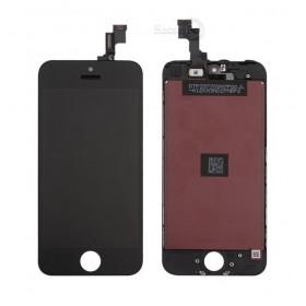 Pantalla táctil + LCD retina pantalla + marco negro para apple iphone 5c pantalla de vidrio
