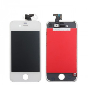 Touch screen + lcd display + frame per apple iphone 4 bianco vetro schermo