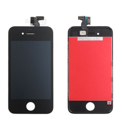 Touch screen + lcd display + frame per apple iphone 4s nero vetro schermo