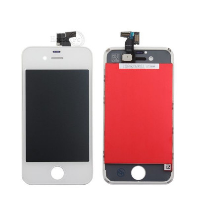 Touch screen + lcd display + frame per apple iphone 4s bianco vetro schermo