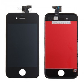 Touch screen + lcd display + frame per apple iphone 4 nero vetro schermo