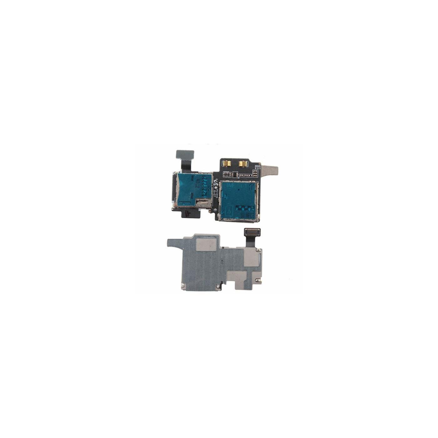 Flex tarjeta de lector de tarjeta SIM y ranura micro sd para samsung galaxy s4 gt-i9505