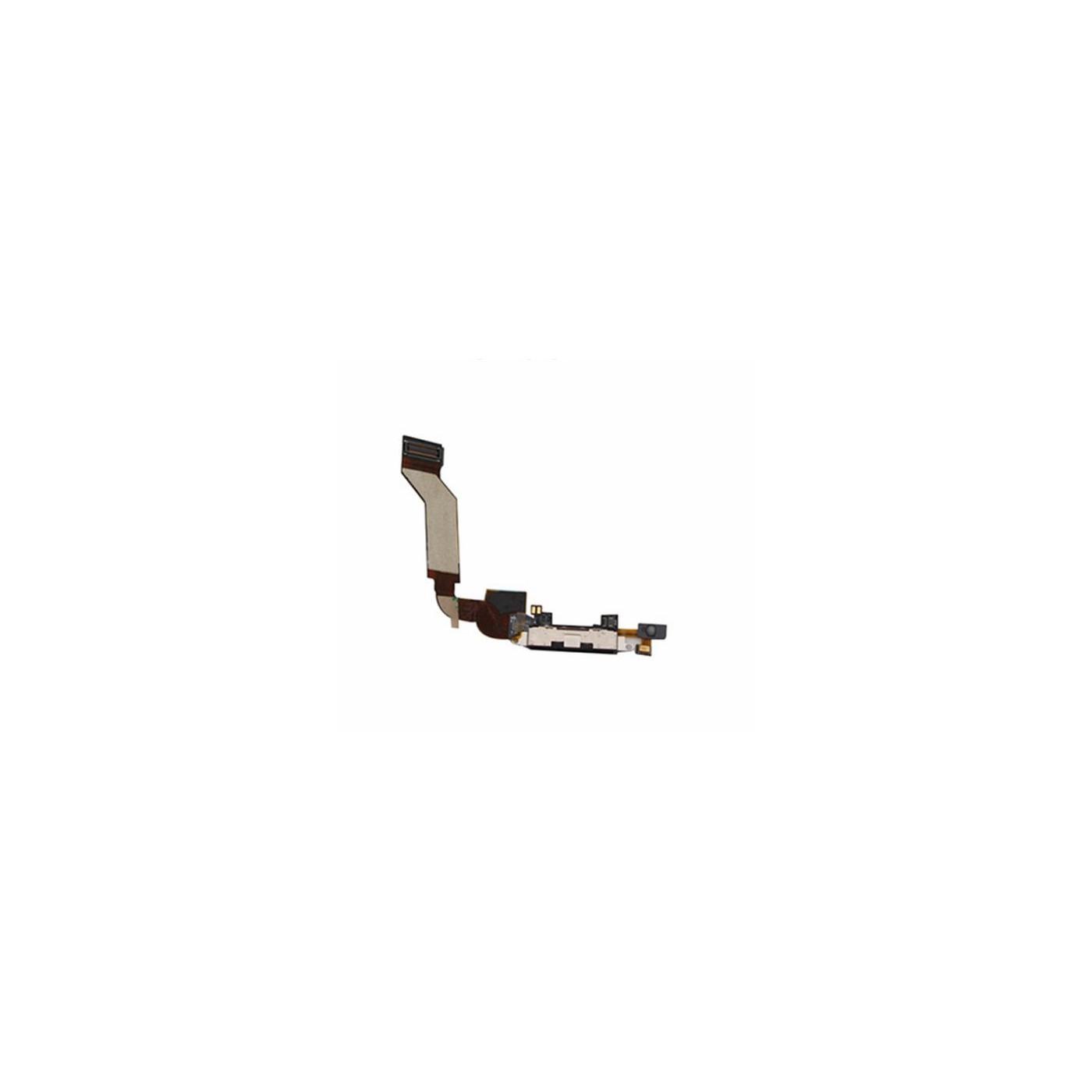 Conector de carga dock apple iphone 4s negro micrófono altavoz flex