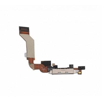 Connettore Di Ricarica Per Apple Iphone 4S Bianco Microfono Speaker Flex