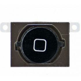 Tasto Home per iPhone 4s Nero Button Bottone Centrale Pulsante cursore
