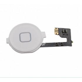 Home Button for apple iphone 4 white central flat flex cursor button