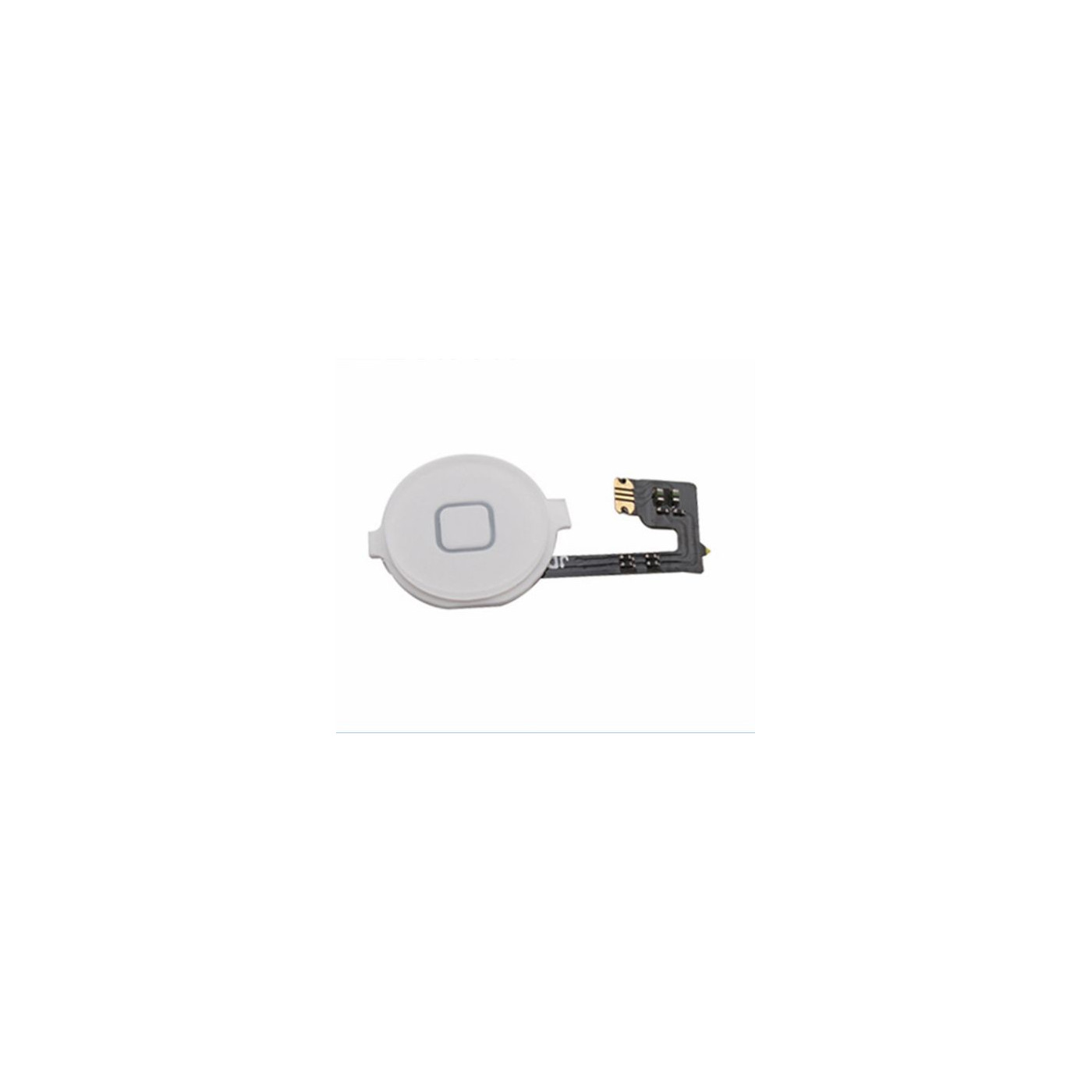 Bouton d'accueil pour apple iphone 4 blanc bouton central curseur plat flex