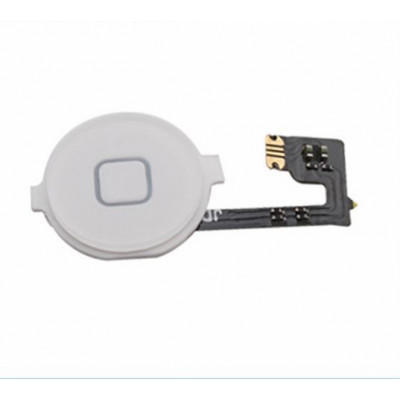 Tasto home per apple iphone 4 bianco pulsante centrale cursore flat flex