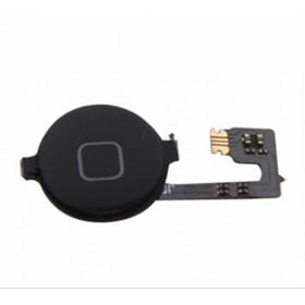Home button flex flat central cursor button for apple iphone 4 4g black black