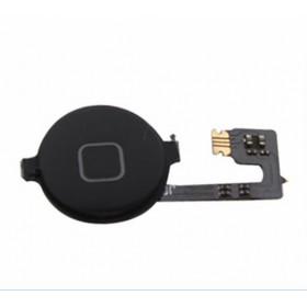 Home button flex flat central cursor button for apple iphone 4 4g black black