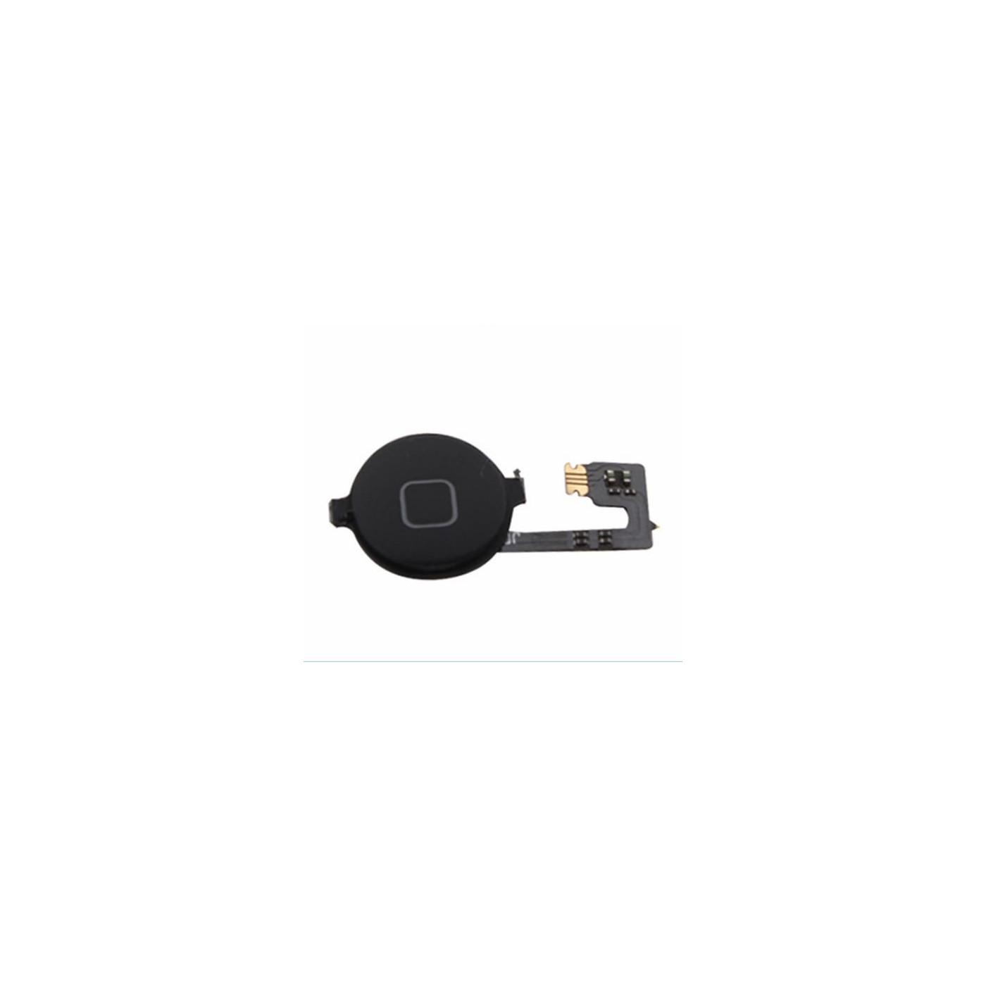Inicio botón central slider flex plana para apple iphone 4 4g negro negro