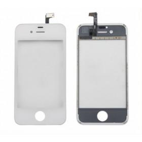 Cristal de pantalla táctil para Apple iPhone 4 - 4s Pantalla de doble cara blanca