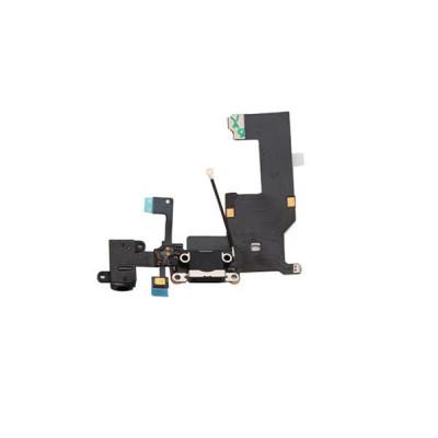 Cavo Flat Connettore Di Ricarica Per Iphone 5 5G Nero Dock Audio Microfono