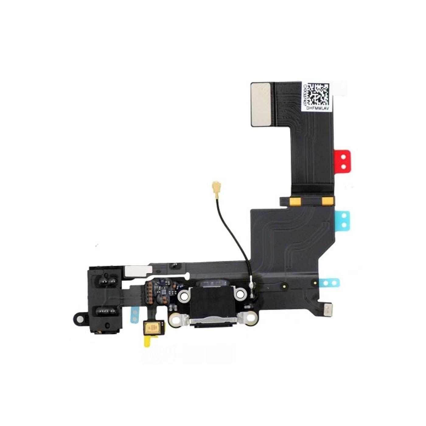 Connecteur de charge plat pour iphone 5S noir micro dock audio