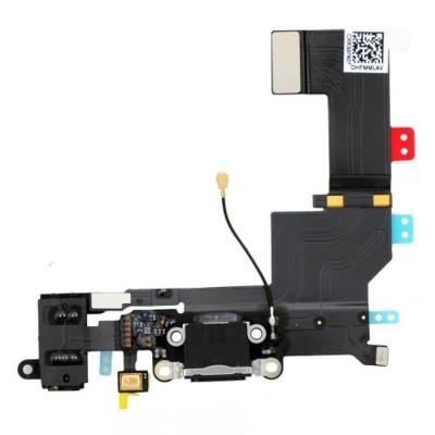 Conector De Carga + Micrófono Para Iphone 5S Negro