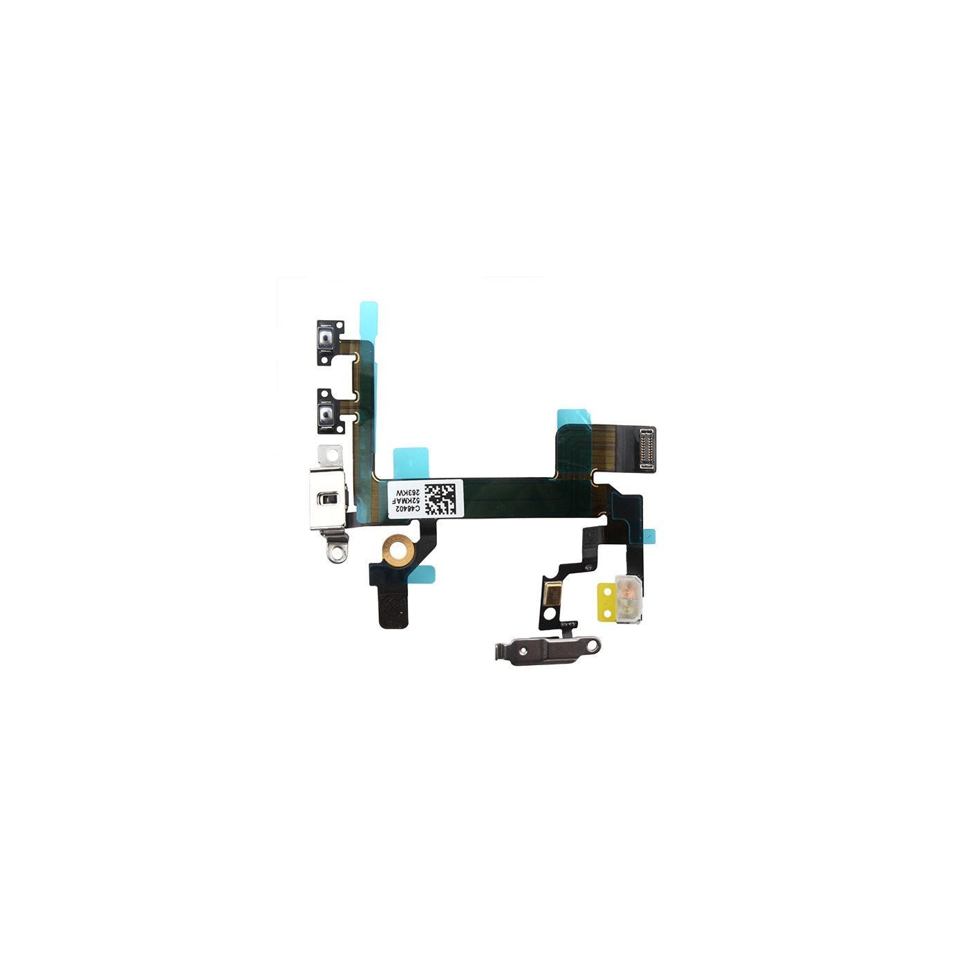 FLAT FLEX PER IPHONE 5S TASTO TASTI PULSANTE VOLUME MUTO POWER PLACCHE METALLO