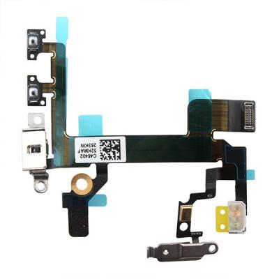 Câble Plat Volume Keys + Touche Power En Métal Pour Iphone 5S
