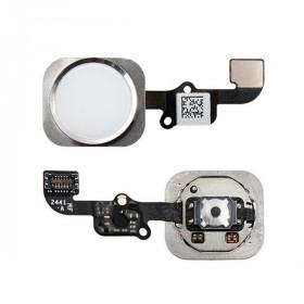 Home-Taste für iPhone 6 - 6 Plus Silber ohne Fingerabdruck montiert