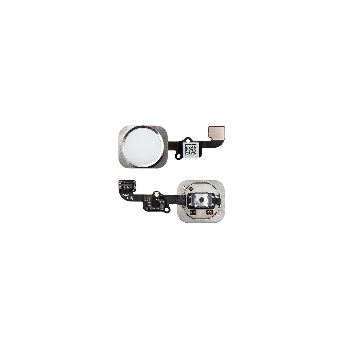 Botón de inicio para iPhone 6 - 6 Plus plateado ensamblado sin huella digital