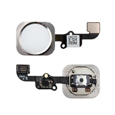 Botón De Inicio Para Iphone 6 - 6 Plus Plateado Sin Huella Digital
