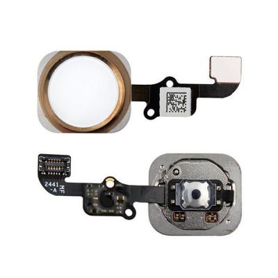 Bouton D'Accueil Pour Iphone 6 - 6 Plus Gold Sans Empreinte Digitale