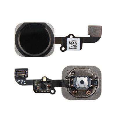 Bouton D'Accueil Pour Iphone 6 - 6 Plus Sans Empreinte Digitale Noir