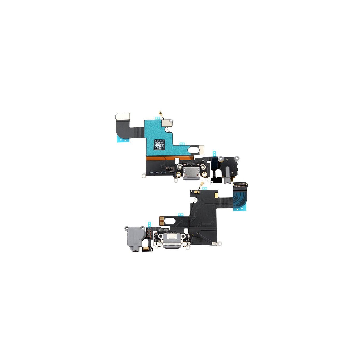 Conector de carga plana y flexible para micrófono de puerto de audio gris iphone 6