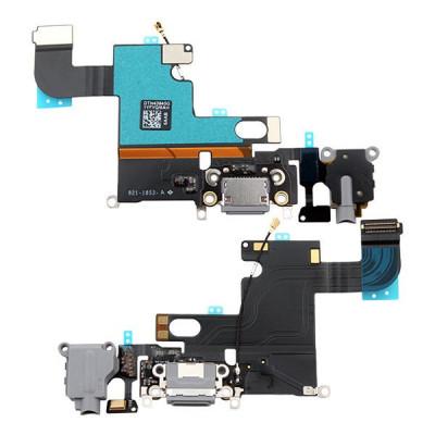 Conector De Carga + Micrófono Para Iphone 6 Gris